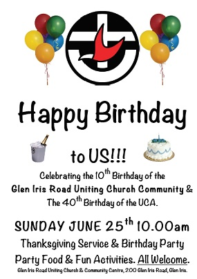 10th Birthday Flyer